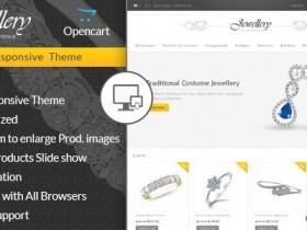 Opencart英文模板Jewellery主题Opencart2.x响应式模板外贸商城B2C