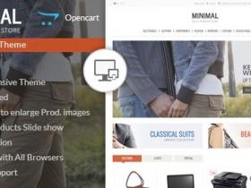 Opencart英文模板Minimal主题Opencart1.5x,2.x,3.x响应式模板外